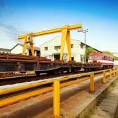 Pier and bridge crane — Stock Photo