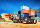 Night Container Terminal — Stock Photo