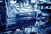 Automobile manufacturing plant — Stock Photo