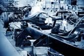 Pickup truck production workshop — Stock Photo
