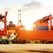 The container terminal at dusk — Stock Photo #57629437