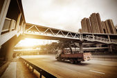 Pedestrian bridges and highways — Stock Photo