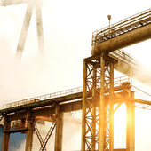 Smoke crane — Stock Photo