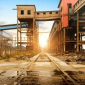 Steelworks rail transport — Stock Photo