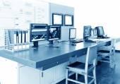 Computer control room — Stock Photo
