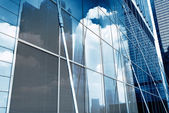 Glass curtain wall projection — Stock Photo