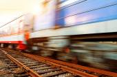 Motion Blur train — Stockfoto