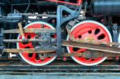 Steam train, wheels. — Stock Photo