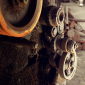 Gears of old machine — Stock Photo