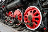 Antique steam train — Stock Photo