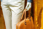 Mannequins and handbags — Stock Photo
