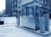Underground parking toll booths — Stock Photo