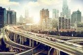 Shanghai viaduct — Stock Photo