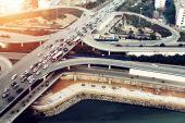 Aerial transport hub overpass — Stock Photo
