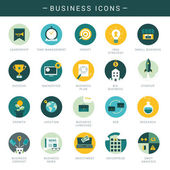 Set of modern business icons — Stock Vector