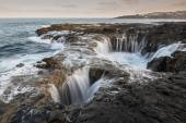 Natural blowhole on the island of Gran Canaria, Spain — Stock Photo