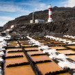Salinas and lighthouse of Fuencaliente, La Palma, Canary Islands — Stock Photo #57164795