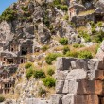 Lycian tombs in Myra, Demre (Turkey) — Stock Photo #59303433