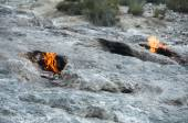Mount Chimera, eternal flames in ancient Lycia (Turkey) — Stock Photo