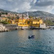 Promenade of Funchal with the castle of Sao Tiago, Madeira (Portugal) — Stock Photo #59485365