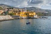 Promenade of Funchal with the castle of Sao Tiago, Madeira (Portugal) — Stock Photo