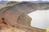 Ljotipollur crater lake, Landmannalaugar, Iceland — Stock Photo