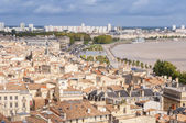 Aerial view of the city of Bordeaux, France — Stock Photo