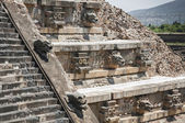Temple of Quetzalcoatl, Teotihuacan (Mexico) — Stock Photo
