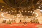 Inside of the mosque of Muhammad Ali, Saladin Citadel of Cairo — Stock Photo
