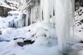 Frozen waterfall of Puente Ra, La Rioja (Spain) — Stock Photo