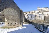 Town of Villoslada de Cameros in a snowy day, La Rioja, Spain — Stock Photo