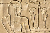 Wall carving, the temple of Edfu, Egypt — Stock Photo