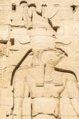 Wall carving, the temple of Isis from Philae, Egypt — Stock Photo