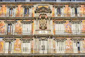 Architecture of Plaza Mayor (Main Square) in Madrid, Spain — Stock Photo