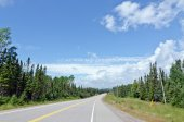 TransCanada highway along Superior Lake shore — Stock Photo