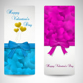 Set of valentines day cards — Stock Vector