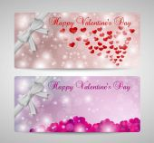 Valentines day cards, set — Stock Vector