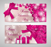 Set of two Valentines day cards — Stock vektor