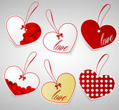 Set of Valentines tags. — Stock Vector