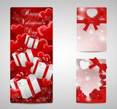 Set of cards for Valentines — Stock Vector