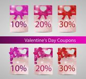 Valentines day tags width spots — Stock Vector