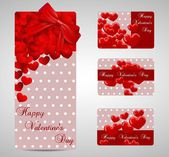 Spotty Valentines day cards — Stock Vector