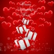 Valentines day card with red background — Stock Vector #62420577