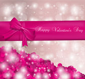 Valentines day pink card — Wektor stockowy