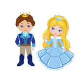 Illustration of very cute Prince and Princess — Stock Vector