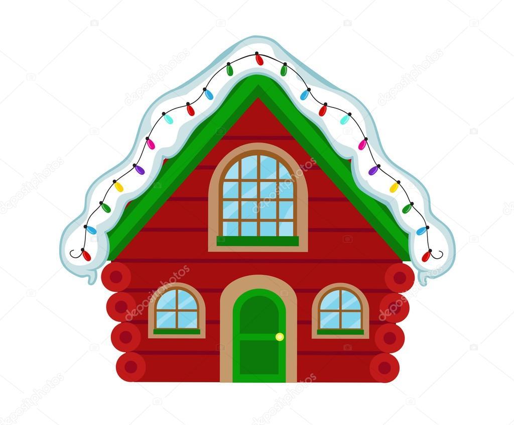Casa de la navidad casa de santa claus ilustraci n de - La casa de la navidad ...