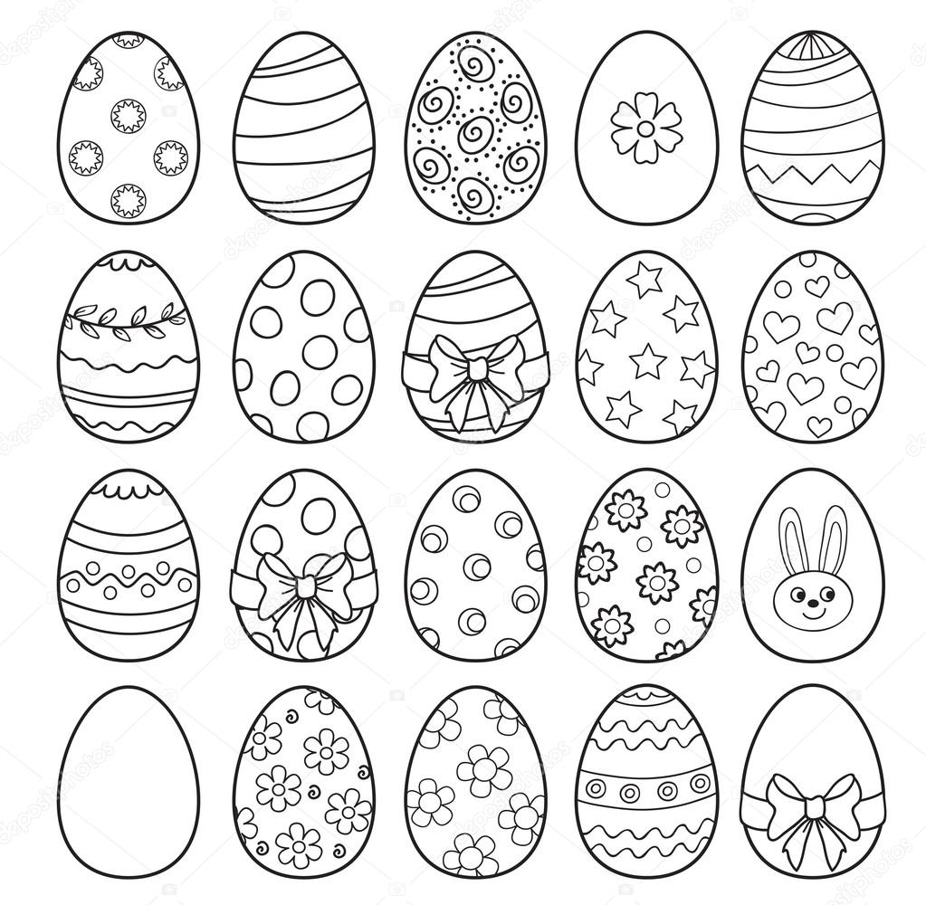 Coloring book with Easter eggs - vector illustration. — Stock Vector ...
