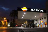 Repsol Gas Station in Early Morning. — Stock Photo