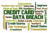 Credit Card Data Breach — Stock Photo