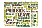 Paid Sick Leave — Stock Photo